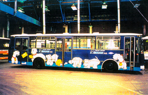 [Hand painted bus commemorating the Cesky]
