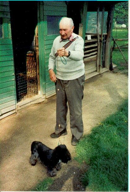 Mr. Horak with one of his Cesky Terriers
